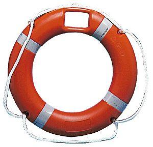 Wurfleine 30 Meter und Halterung Boot Rettungsring 65*40 cm rot//weiß incl