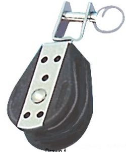 VIADANA Blöcke Serie Plastinox Einfachblock  für 10 mm Seil
